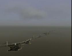 Comberth harbor bridge