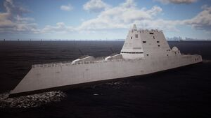 Osean Zumwalt Stealth Destroyer