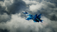 Su-37 Special Skin Flyby Distant