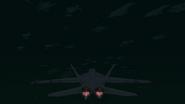 Hornet in flight