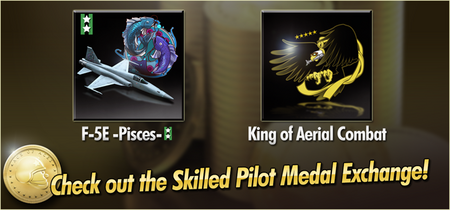 F-5E -Pisces- and King of Aerial Combat Skilled Pilot Medal Exchange Banner