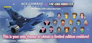 Ace Combat x iDOLMASTER banner