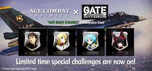 GATE BRAVE SCRAMBLE Collaboration Event Banner