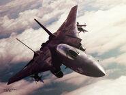 AC5 Razgriz F-14A Wallpaper 1024x768
