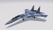 Su-35 Scarface 1 hangar view