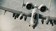 A-10A Thunderbolt II Assault Horizon in Clouds