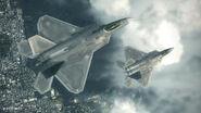 Emmerian F-22A Squadron Above Gracemeria