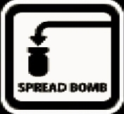 Spread bomb icon