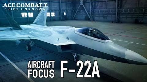 Ace Combat 7 Skies Unknown - PS4 XB1 PC - F-22A Aircraft Focus