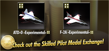 ATD-0 -Experimental- and F-2A -Experimental- Skilled Pilot Medal Exchange Banner