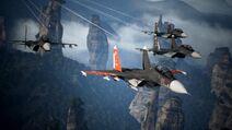 Sol squadron in flight
