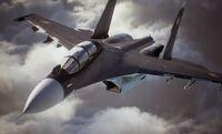 Ace Combat 7 Announcement Su-30M Front