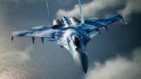 Su-37 Special Skin Flyby
