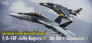 FA-18F -Jolly Rogers- & AV-8B -Aquarius- banner