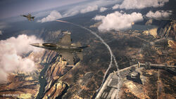 F-16C Over Ragno Fortress