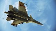 Su-37 Y13 underbelly