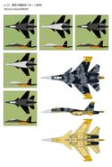 Su-37 Yellow Prototype Sketches