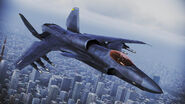 ASF-X Shinden II over Tokyo in Infinity