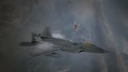 AC7 F-22A SU-30SM Flyby 2
