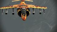 AV-8B Inferno Skin flyby