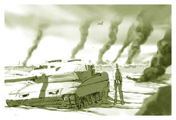 Wrecked Tank in Futuro