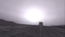V2 explosion over Avalon Dam
