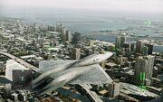 YF-23 over Miami
