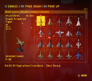 Ace Combat Zero Assault Records