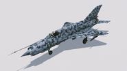 MiG-21Bis Huckebein hangar