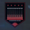 EM Railgun Destruction Mission Medal of Valor (Red) Emblem