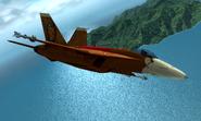 FA-18E Donkey Kong Flyby 2