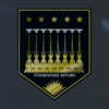EM Railgun Destruction Mission Medal of Valor (Gold) Emblem