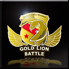 Gold Lion Battle Emblem Icon