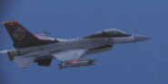 F-16C -Windhover- flyby
