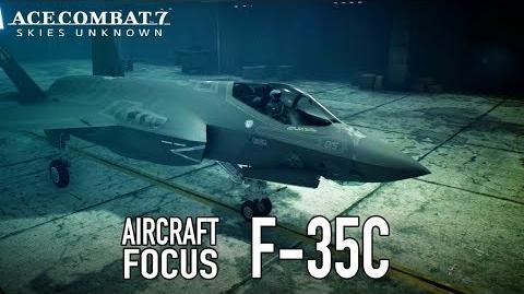 Ace Combat 7 Skies Unknown - PS4 XB1 PC - F-35C Aircraft Focus