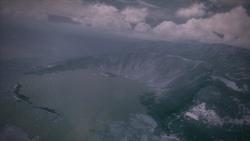 Sonne Island Antenora Crater