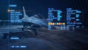 空戰奇兵7 未知天際 Hangar出擊準備畫面