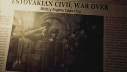 Estovakian Civil War Over