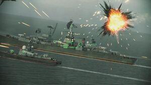 CIWS Destroying Missile