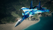 Su-37 Special Skin Flyby 2