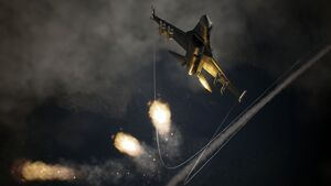 AC7 F-2A Deploying Flares