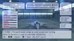 Ace Combat X Hangar
