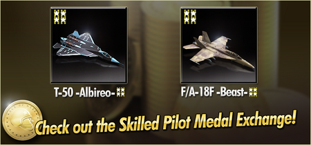 T-50 -Albireo- and FA-18F -Beast- Skilled Pilot Medal Exchange Banner