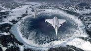 Pic4-45 b jet fighters over nuke crater in Waldreich Mountains
