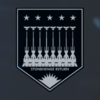 EM Railgun Destruction Mission Medal of Valor (White) Emblem