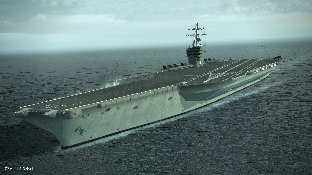 Pacific Ocean May 20 2016 The Aircraft Carrier Uss Carl Vinson Cvn