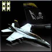 FA-18F -Jolly Rogers- Icon