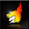 Flaming Unicorn Emblem