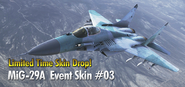 MiG-29A Event Skin 03 Drop Banner