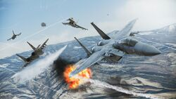 Team Deathmatch in Ace Combat Infinity